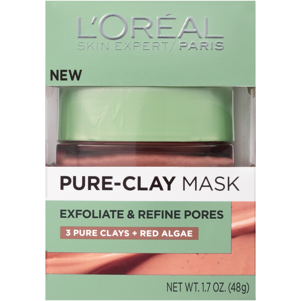 L'Oreal Paris Exfoliate & Refine Pores Pure Clay Mask - 1.7oz