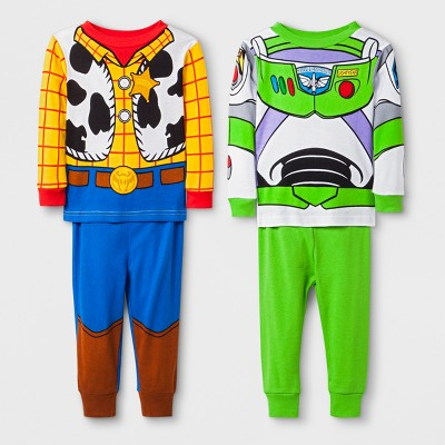 Baby Boys' Toy Story 4pc Pajama Set - Blue 12M