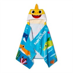 Baby Shark Fun Excursion Hooded Towel