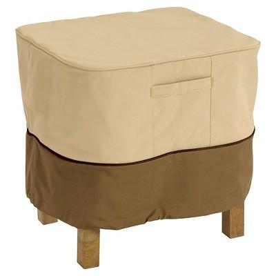 Veranda Square Patio Ottoman/Side Table Cover X-Large - Light Pebble - Classic Accessories