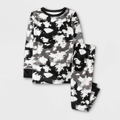 Toddler Boys' Tie-Dye Tight Fit Pajama Set - Cat & Jack™ Black