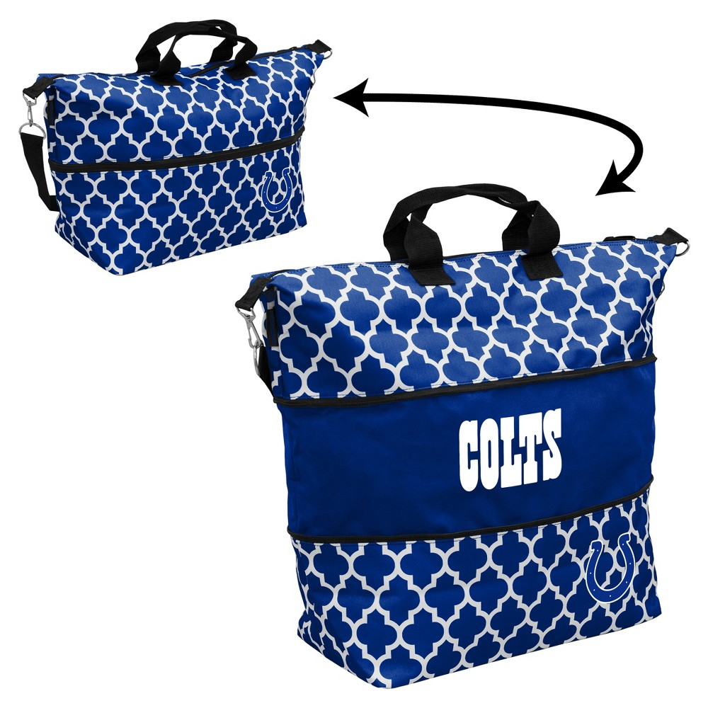 NFL Indianapolis Colts Quatrefoil Expandable Cooler Tote, Adult Unisex