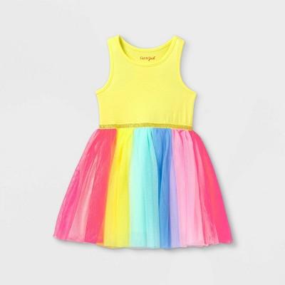Toddler Girls' Colorblock Tulle Tank Dress - Cat & Jack™ Yellow
