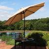Aluminum Sunbrella Market Tilt Patio Umbrella 9' - Beige - Sunnydaze Decor - image 3 of 4
