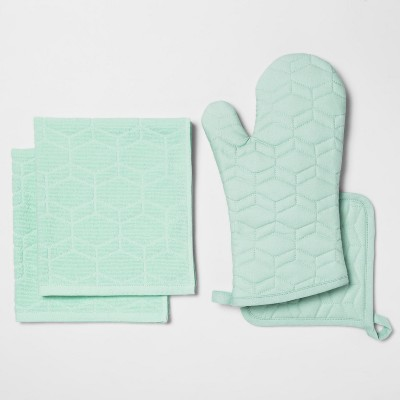 Kitchen Textile Set Aqua - Room Essentials™
