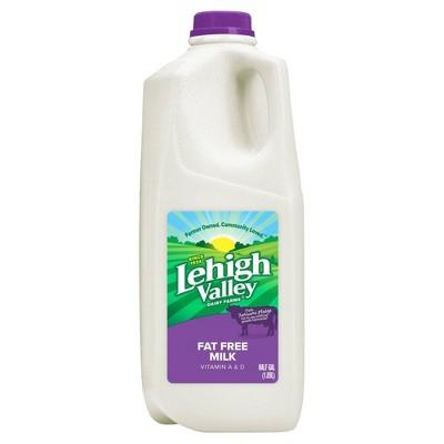 Lehigh Valley Skim Milk - 0.5gal
