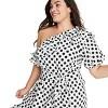 Women's Polka Dot One Shoulder Dress - Lisa Marie Fernandez for Target (Regular & Plus) White/Black  - image 4 of 4