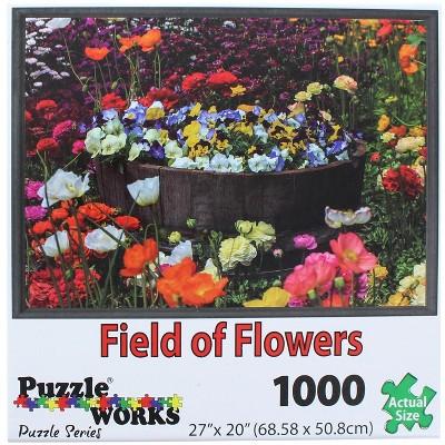 PuzzleWorks 1000 Piece Jigsaw Puzzle | Field Of Flowers