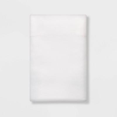 Standard Solid Satin Pillowcase White - Room Essentials™