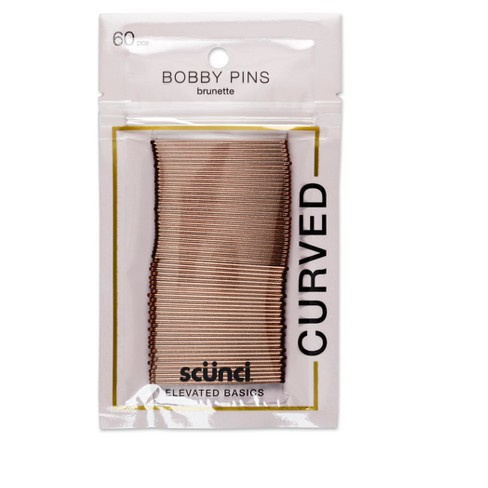 Conair Scunci Curved Bobby Pins - 60pk - image 1 of 3