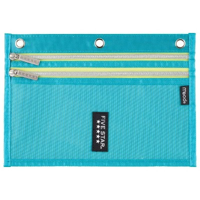 Five Star Dual Zipper Pencil Pouch - Teal