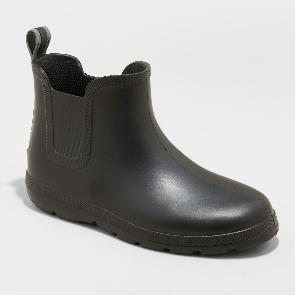 Men's Totes Cirrus Chelsea Rainboots - Black 12