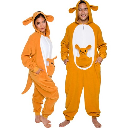 Funziez! Kangaroo Slim Fit Adult Unisex Novelty Union Suit - image 1 of 4