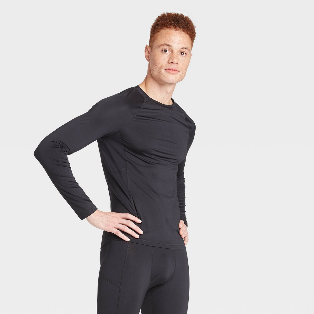 Men's Long Sleeve Fitted T-Shirt - All in Motion Black XL was $20.0 now $14.0 (30.0% off)