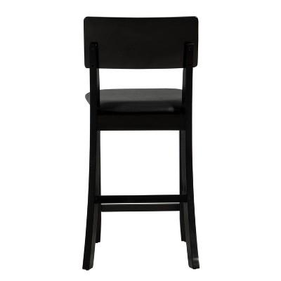 "Torino Contemporary 24"" Counter Height Barstool Hardwood/Black - Linon : Target"