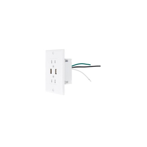 NewerTech Power2U 14 Cubic Inch Electrical Outlet with 2x USB ports - image 1 of 1