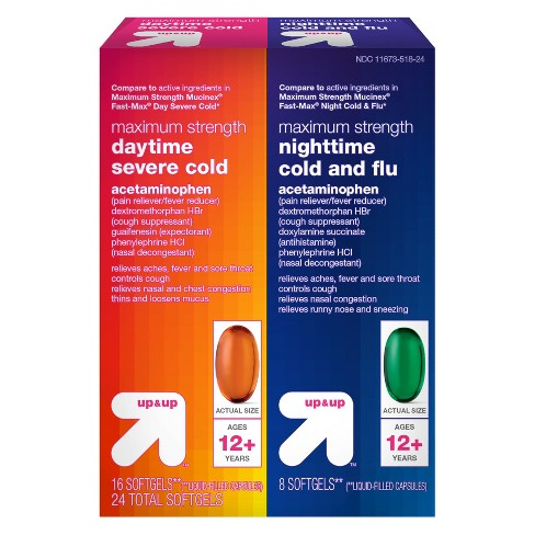 Maximum Strength Daytime/Nighttime Severe Cold & Flu Relief Softgels - 24ct - Up&Up™ - image 1 of 1
