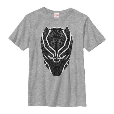 Boy's Marvel Black Panther Ornate Mask T-Shirt