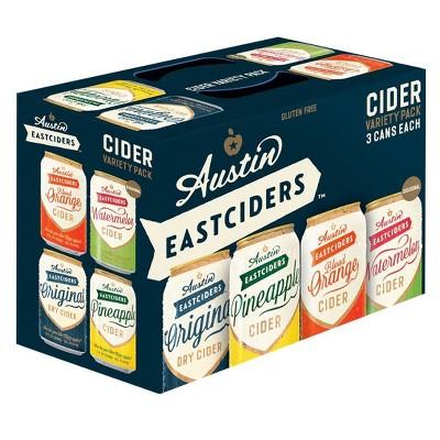 Austin Eastciders Hard Cider Variety Pack - 12pk/12 fl oz Cans