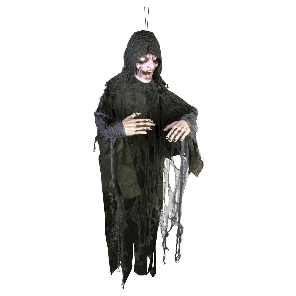 Image of 6 ft. Halloween Ghost Poly Foam Decor, Black