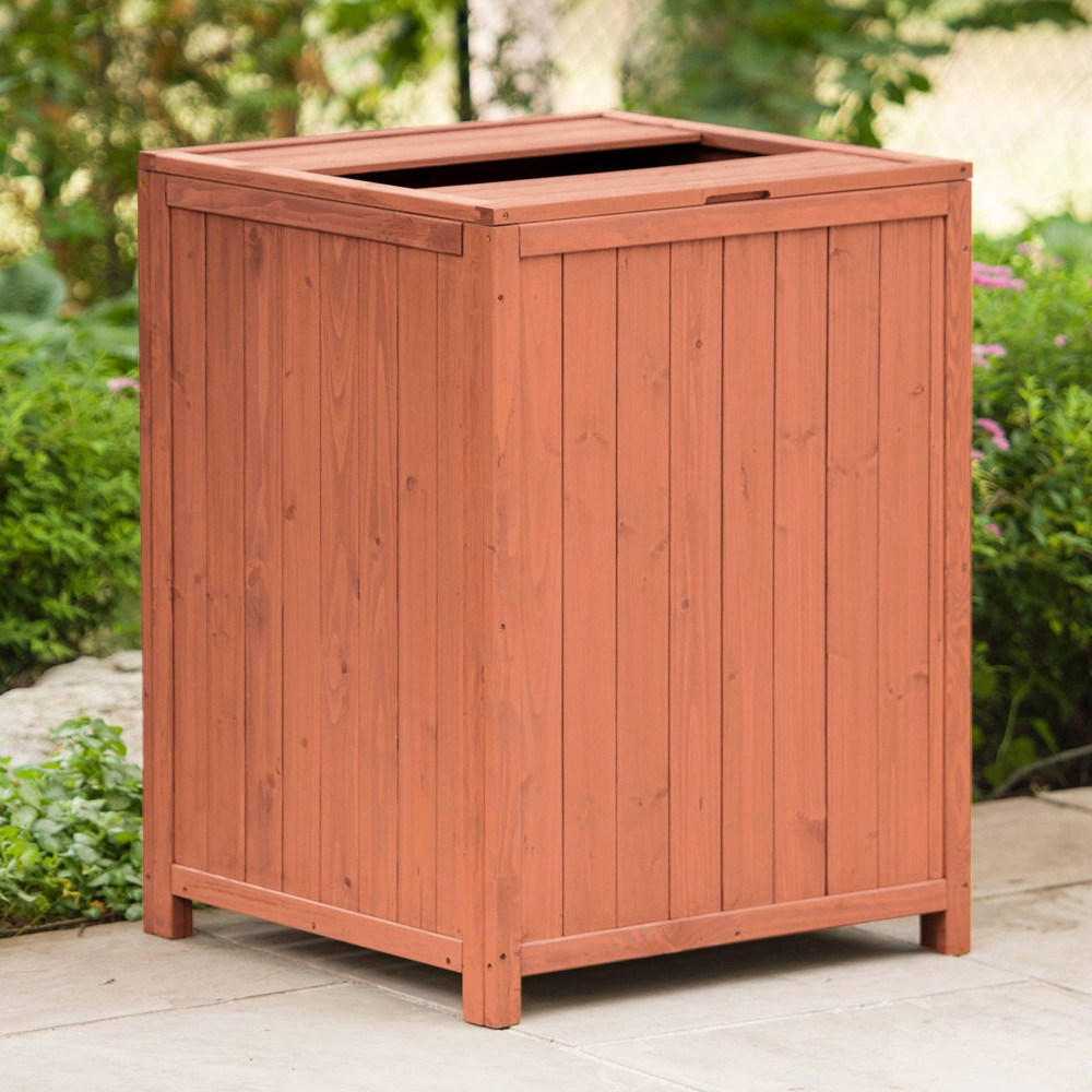 Image of Patio Trash Receptacle - Brown - Leisure Season