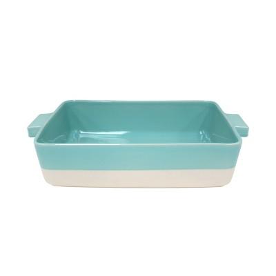 Casafina Forma Bakeware Green Stoneware 15.25x10.25 Rectangular Baker