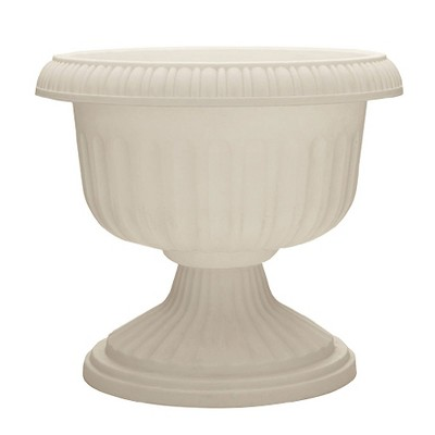 Southern Patio Dynamic Design Outdoor 18 In Resin Grecian Urn Planter Pot, White