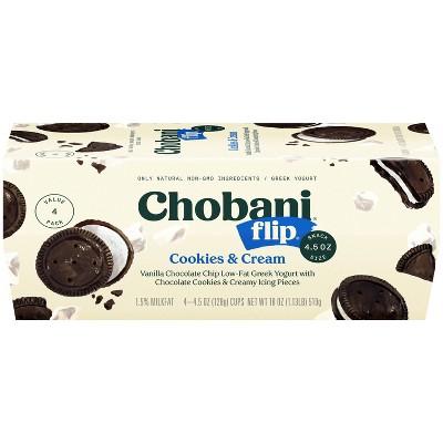 Chobani Flip Cookies & Cream Greek Yogurt - 4ct/4.5oz Cups
