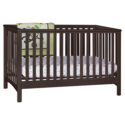 Stork Craft Hillcrest Fixed Side Convertible Crib - Espresso