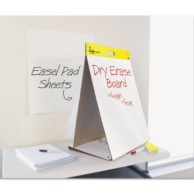 Post-it Dry Erase Tabletop Easel Unruled Pad 20 x 23 White 20 Sheets 563DE
