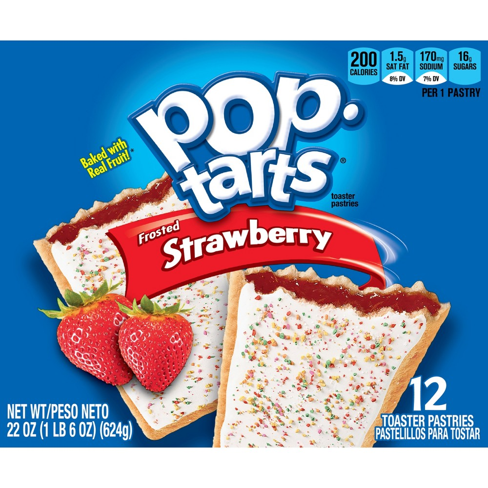 Pop-Tarts Frosted Strawberry Pastries - 12ct/22oz - Kellogg's