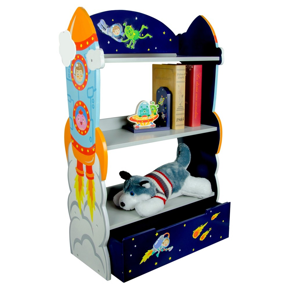 Image of Outer Space Bookshelf - Multi - Colored - Fantasy Fields