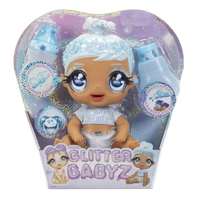 Glitter Babyz January Snowflake with 3 Magical Color Changes Baby Doll - Blue Hair