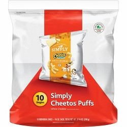Cheetos Simply White Cheddar Puffs - 10ct