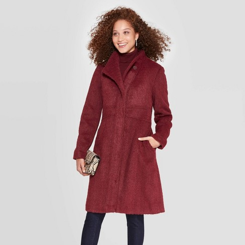 Women's Stand Collar Top Coat - A New Day™ - image 1 of 2