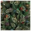 7.5ft Pre-lit Artificial Christmas Tree Pencil Virginia Pine Multicolored Lights - Wondershop™ - image 2 of 4