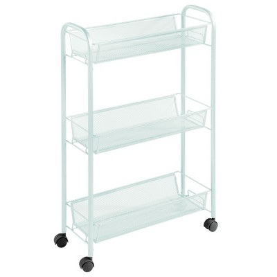 mDesign Portable Metal Rolling Laundry Utility Cart