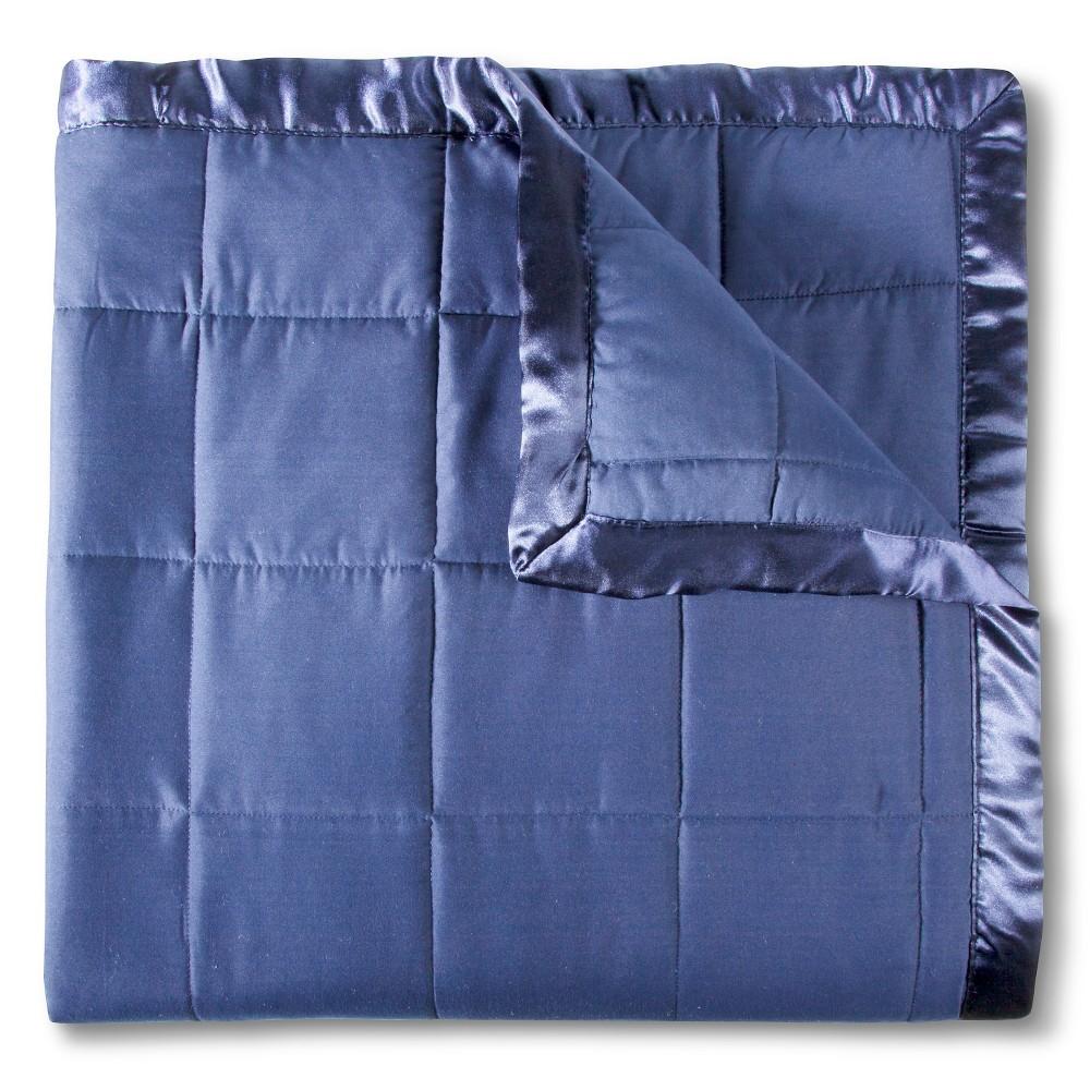 Image of Elite Home Down Alt Microfiber Blanket - Medium Blue (Full/Queen)