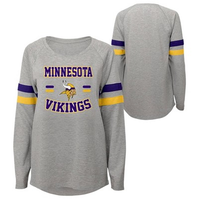 NFL Minnesota Vikings Girls' Long Sleeve Fashion T-Shirt