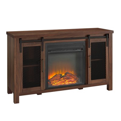 """Rustic Farmhouse Fireplace TV Stand for TVs up to 55"""" - Saracina Home"""