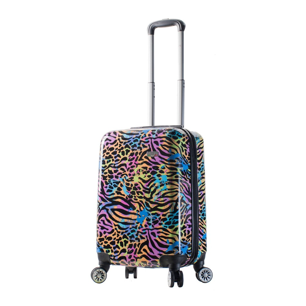 "Image of ""Mia Viaggi ITALY 20"""" Hardside Carry On Suitcase - Pop Animal Paint, MultiColored"""