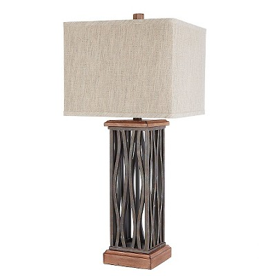 The Ronan Metal Table Lamp with Shade (29 )- Brown