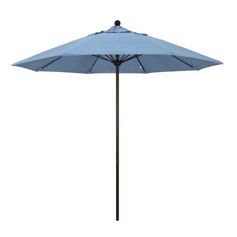 Venture 9' Bronze Market Umbrella in Air Blue - California Umbrella - image 1 of 1