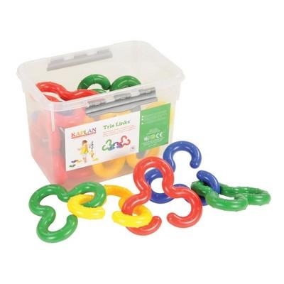 "Edushape Toddler 6"" Trio Links - Shapes Sort and Stack Curves"
