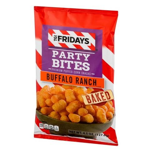 T G I  Friday's Buffalo Ranch Party Bites Premium Puffed Corn Snacks - 4 5oz