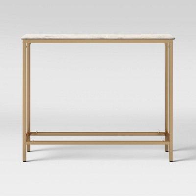 Greenwich Narrow Marble Top Console Brass - Threshold™
