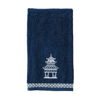 Vern Yip Chinoiserie Bath Towel Navy - SKL Home