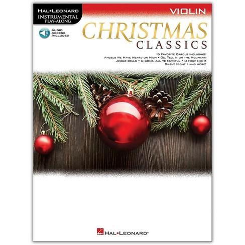 Christmas Instrumental.Hal Leonard Christmas Classics For Violin Instrumental Play Along Book Audio Online
