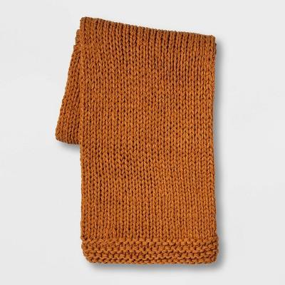 Chunky Knit Throw Bronze - Threshold™