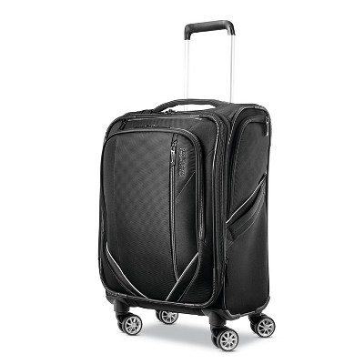 American Tourister 20'' Zoom Turbo Softside Spinner Suitcase - Black
